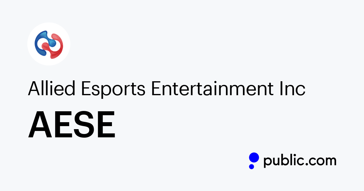 Buy Allied Esports Entertainment Inc Stock Aese Stock Price Latest News Public Com