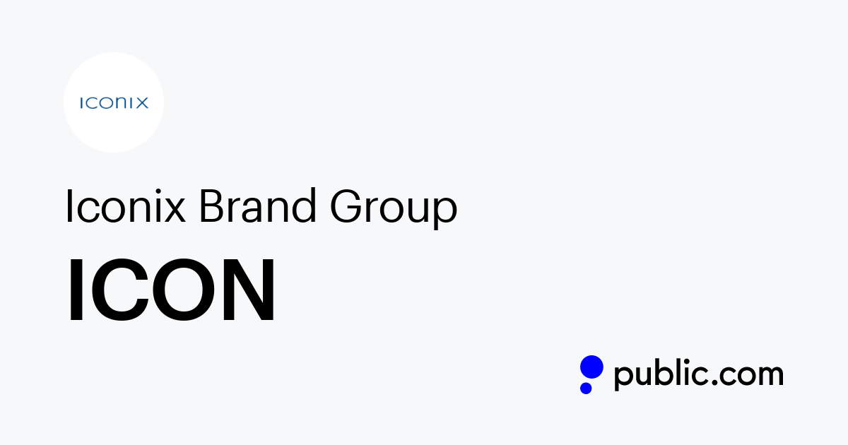 Buy Iconix Brand Group Stock   ICON Stock Price & Latest News   Public